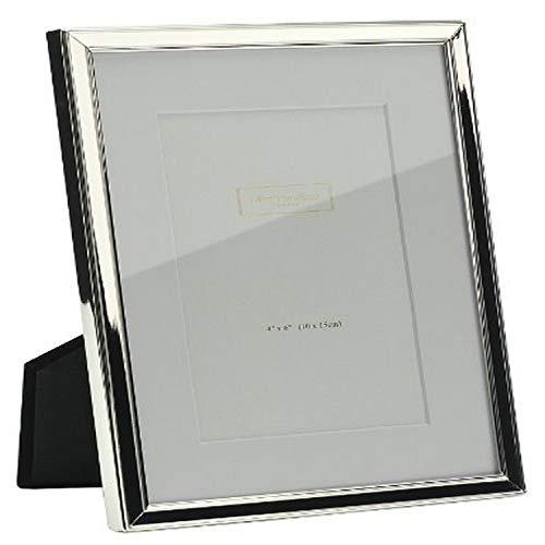 Addison Ross - Cornice per foto, 10,1 x 15,2 cm, bordo placcato argento