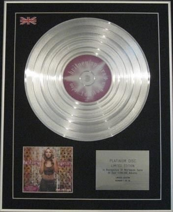 Century Music Awards Britney Spears-ltd CD platinumdisc-oops. I Did It Again