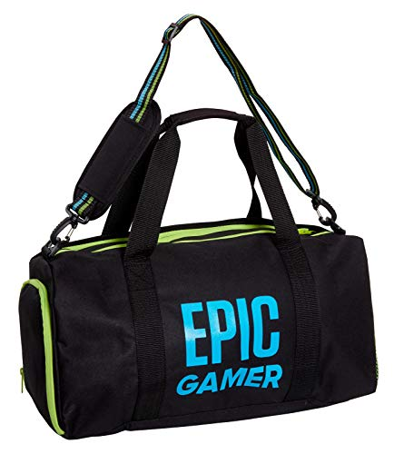 Epic Gamer Sports Holdall Adults Kids Duffle School Gym Bag with Shoulder Straps