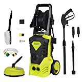Electric Pressure Washer, Upgraded 2000W 150Bar 450L/H Pressure Washer Power Washer Patio Cleaner with Brush,Turbo Nozzle Soap Dispenser Accessories for Garden Car Patio Yard Driveways