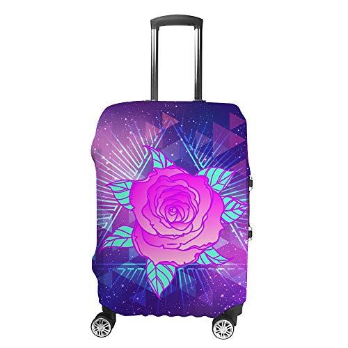Ruchen Koffer-Abdeckung, Retro, Vintage, abstrakte Rose, futuristisch, farbenfroh, für Gepäck in verschiedenen Größen