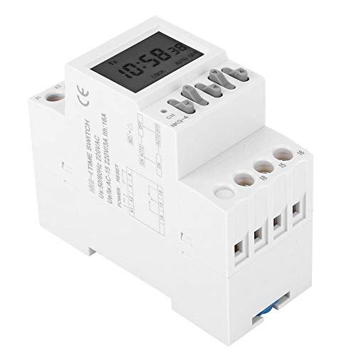 Gedourain Interruptor Temporizador, Simplemente Ajuste NKG-4 Interruptor Temporizador programable Compacto y portátil programable para Timbre Escolar para Luces Exteriores