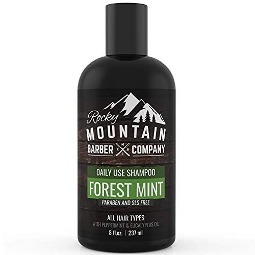 Men's Shampoo - Tea Tree Oil, Peppermint & Eucalyptus for All Hair Types – Prevents Dry Itchy Scalp by Rocky Mountain Barber Company