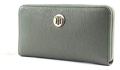 Tommy Hilfiger AWOAW07117 Damen Th Core LRG ZA Wallet Umhängetasche, Grün (Grape Leaf), 2.5x10.2x17.8 cm