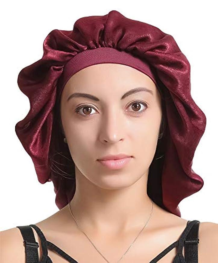 Large Satin Silk Bonnet Sleep Cap – Luxurious Fabric,Premium Elastic Band