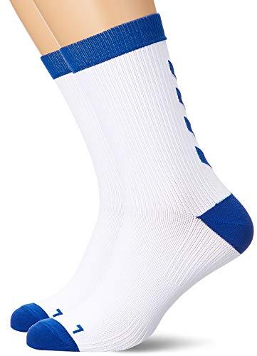 hummel Element Indoor Sport Sock 2, Weiß/True Blau, 43/45