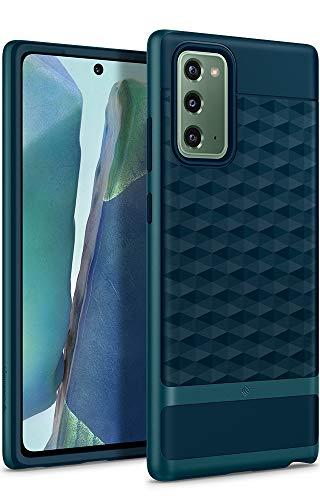 Caseology Parallax, Funda Samsung Galaxy Note 20, Diseño Geométrico, Patrón 3D, Carcasa Diseñada para Galaxy Note 20 - Aqua Green