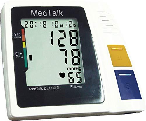 MedTalk sprechendes Oberarm-Blutdruck-Messgerät 2 Speicherplätze