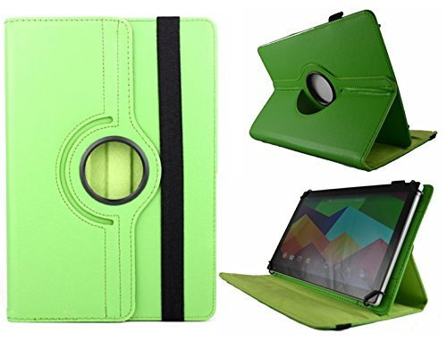 Theoutlettablet Funda Verde Giratoria 360º para Tablet Leotec Supernova IS3G / Qi16 / S16 10.1'