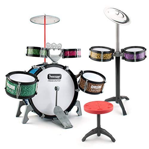 BEAURE 13 Pieces Toddlers Jazz Drum Set for Kids Educational Musical Playset Toy Percussion Instrument Kit Gifts for Boys and Girls