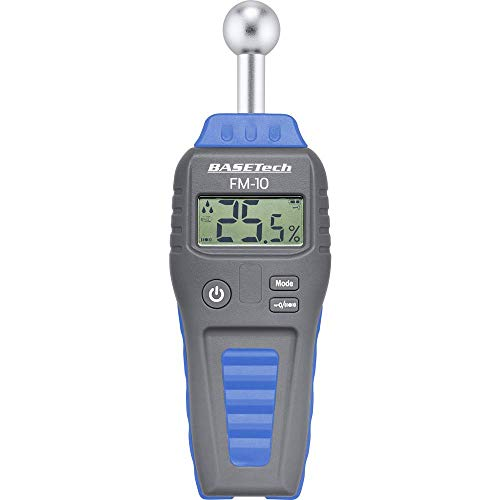 Basetech FM-10 Materialfeuchtemessgerät Messbereich Baufeuchtigkeit (Bereich) 0.1 bis 99.9{7e667caf28cbdea58ddf37904f7f63b94f9acae073aab32baf1babdf2404ea83} vol Messbereich Holzfeucht