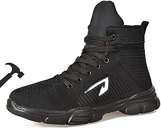 أحذية عمل BAOLESEM من الصلب لأصابع القدم للرجال والنساء أحذية بناء صناعية خفيفة الوزن
