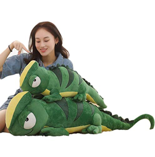 Cartoon Chameleon Plush Toy Lizard Funny Creative Soft Animal Cushion Stuffed Doll Pillow Warm Gift For Halloween 1m