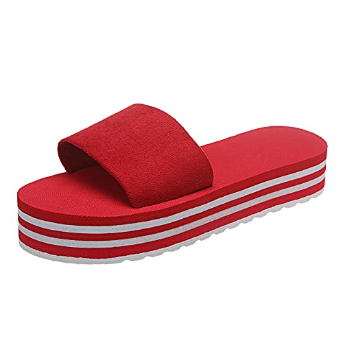 walking sandals womens cycling shoes sandals womens wedge sandals sandals sandals womens womens slipper (5, Red 37)