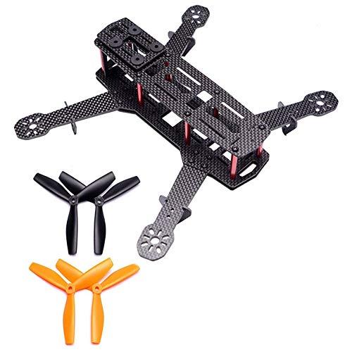 Dcolor Full Carbon FPV Drone Frame Drone 250 Quadcopter Frame Set Qav250 Es Adecuado para Piezas de MáQuinas FPV 250 Mm Quadcopter Frame 3Mm Carbon Fiber Drone Frame