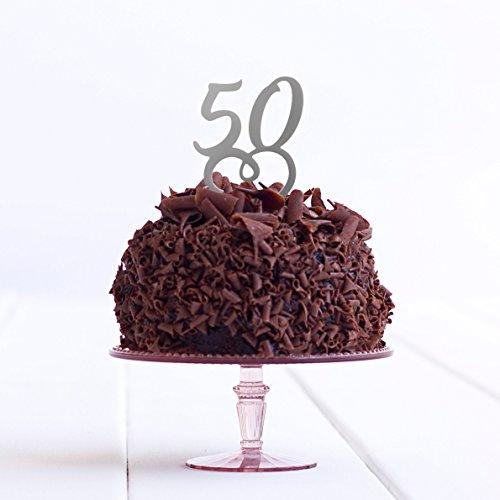 Directly Personalised 50 Anniversaire de fête d'anniversaire Âge 50e Anniversaire de Mariage Doré Acrylique pour gâteau