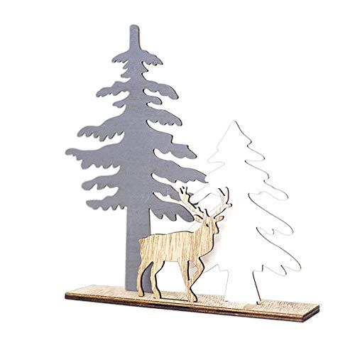 Kerstversieringen Elk kerstboom decoratie cadeau geschikt voor thuis, klaslokaal, commerciële ramen, bruiloft Small -