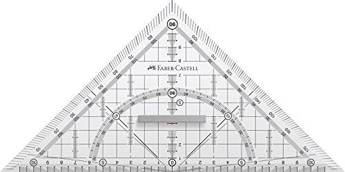 Faber-Castell 171010 Grip - Squadra per disegno tecnico con impugnatura, 22 cm