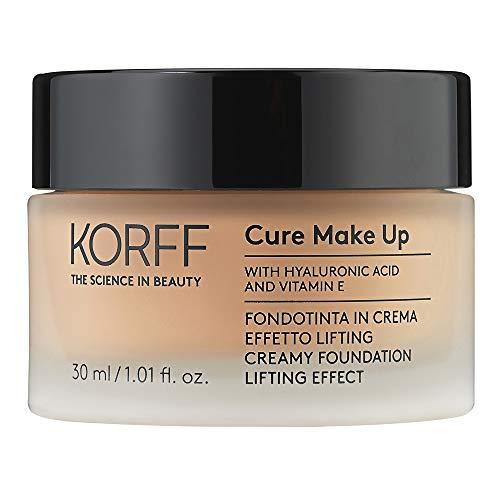 Korff Fondotinta Crema Effetto Lifting Glow, Formula Anti-età Idratante e Illuminante con acido ialuronico 04, 30ml