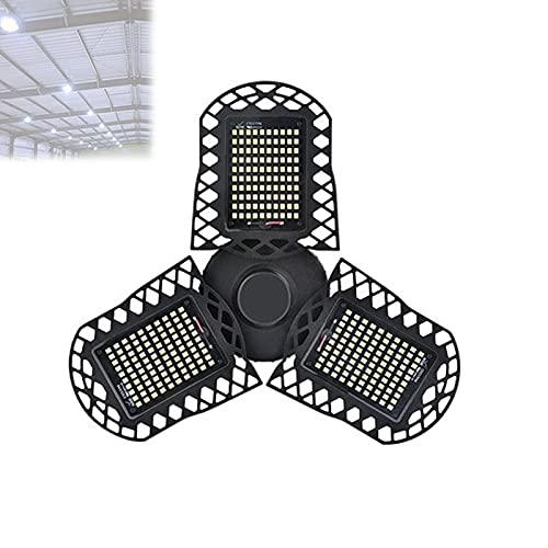 EnweKapu Luces Led Techo, Luces Techo, 80W 8000Lm Portalámparas E26 / E27 Deformable, Luz Garaje para Fácil de Instalar para Almacenes, Tiendas, Oficinas, Sótanos
