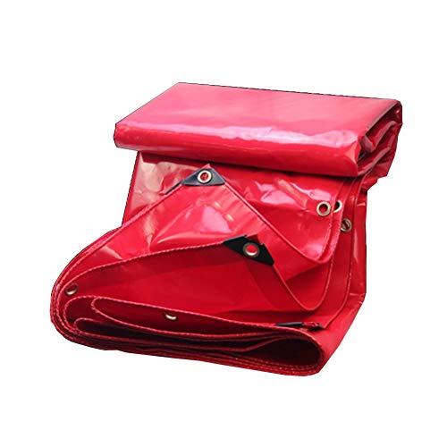 BWHTY Plane Polyvinylchlorid Glasur Regendicht Gewebeplane Wasserdicht Sonnenschutz Zelt Gastronomie Hochzeit Markise, Dicke 0,4 Mm, 560 G/Msup2; (Farbe : Red, grouml;szlig;e : 3X4m)