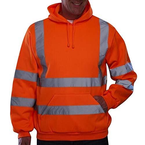 Dihope, sudadera con capucha de alta visibilidad, sudadera de manga larga reflectante para hombre, chaqueta de seguridad