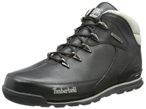 Timberland Euro Rock Hiker, Botas para Hombre, Negro Black Full Grain, 42 EU