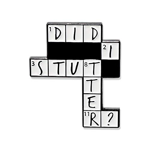 WIZARDPINS Did I Stutter Crossword Puzzle Stanley The Office Enamel Pin– 1 Pin