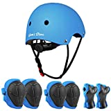 JIM'S STORE Protection Trotinette Freestyle Casque Protection Enfant Vélo Coudières Genouillère Protège-Poignets Sets de Protection Enfant Sport Trottinette Skateboard Velo Roller Patin