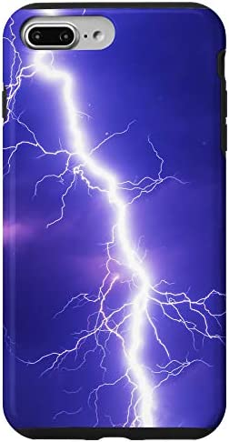 iPhone 7 Plus 8 Plus Thunderstorm Lightning Pattern Dark Cloud Storm Chaser Case product image