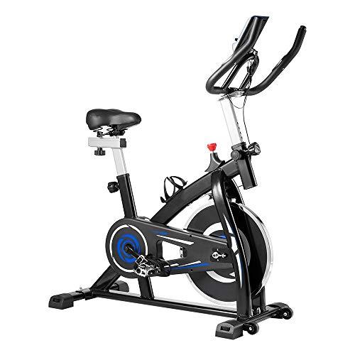 Bicicleta de Ejercicio,Bicicletas de Spinning, Bicicleta Estatica para Fitness, Manillar y Asiento Ajustables para Personas de Diferentes Estatura (Capacidad de Peso:80 kg)