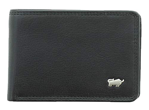 BRAUN BÜFFEL Geldbörse Golf 2.0 - aus echtem Leder (schwarz, 4 Fächer)