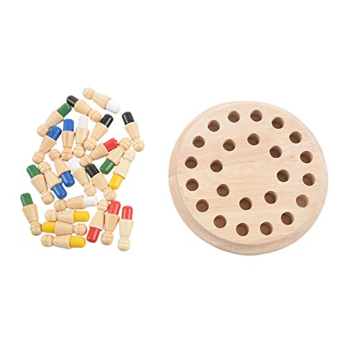 TOOGOO 1 Satz Holz Memory Match Stick Schachspiel Kinder Fruehe Bildung 3D Puzzle Familie Party laessig Spiel Puzzles