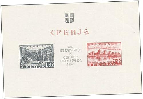Goldhahn Deutsche Besetzung Serbien Block 2 postfrisch  in BedarfsQualität Briefürken für Sammler