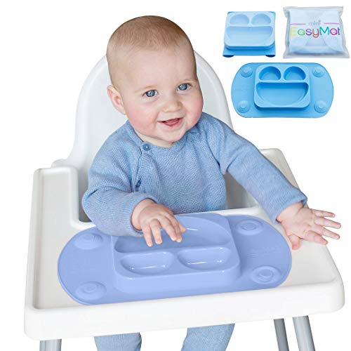 EasyMat tragbare Baby Saugplatte (Hellblau)