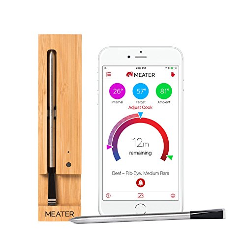 MEATER | Termometro Bluetooth Fino a 10 Metri a Sonda Senza Fili Per Forno, Grigliate, Barbecue. App in Italiano Compatibile con iPhone, Android, iPad e Tablet