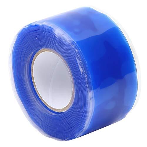 Silikon selbstklebendes Klebeband, Silikonreparaturband Flammhemmendes wasserdichtes Klebeband für Haushalt und Industrie 0,5 mm x 25 mm x 3 m (blau)