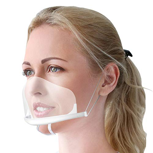 10 x Gesichtsschutzschirm aus Kunststoff – Plexiglas Schutzmaske vor Staub, Speichel etc. für das Gesicht – effektiv & hygienisch