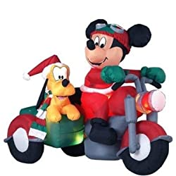 some other christmas inflatables that you may want to choose are famous characters such as a mickey or minnie mouse inflatable or snoopy or scooby doo - Mickey Mouse Christmas Blow Up