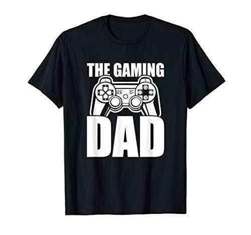 Herren The Gaming Dad Game Controller Spruch Geschenkidee Vatertag T-Shirt