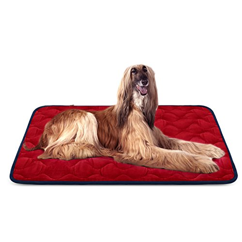 Hero Dog Large Dog Bed Mat 47 Inch Crate Pad Anti Slip Mattress Washable for Pets Sleeping (Red XL) Beds Dog Supplies Top