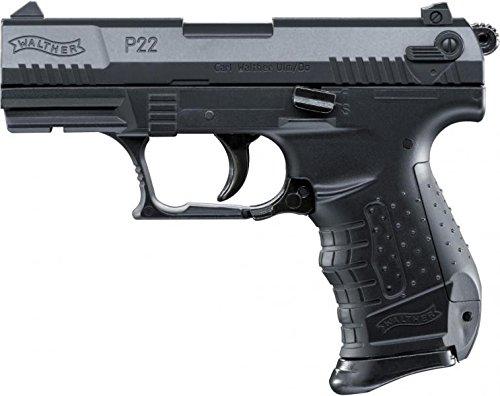 Softair Pistole Walther P22 inkl. Ersatzmagazin, in Schwarz oder Schwarz-Silber (Schwarz)