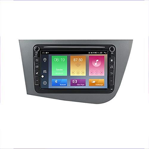 Unidad de cabeza de navegación GPS de coche Adecuado para Volkswagen Seat Leon 2005-2012 Coche Estéreo SAT NAV Capacitivo Touch HD Carplay Sistema de radio incorporado Tracker,8Core 4G+WIFI:2+32G