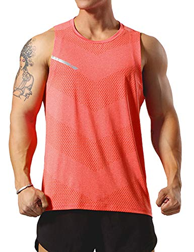 GYMAPE - Camiseta deportiva sin mangas para hombre, cómoda, para correr, entrenar o ir al gimnasio, secado rápido