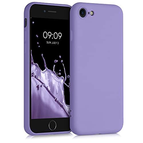 kwmobile Custodia Compatibile con Apple iPhone 7/8 / SE (2020) - Cover Silicone Gommato - Back Case Protezione Posteriore Cellulare - Lavanda Lilla