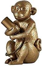 MiniSun – Tafellamp met baby-aapje motief, goud – Aap tafellamp – Tafellamp aap – Aap lamp goud – Aaplamp – Lamp aap goud...