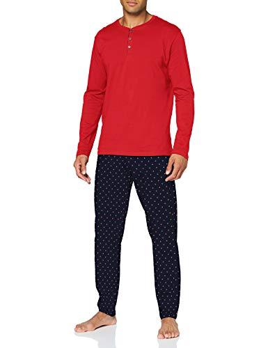 Schiesser Herren Schlafanzug lang\' Pyjamaset, rot, 52