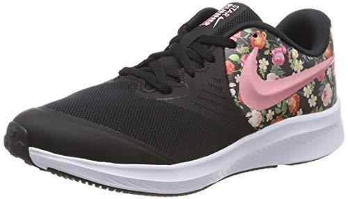 Nike Mädchen Star Runner 2 VF (GS) Sneaker, Schwarz (Black/Pink Tint-Pale Ivory-White 001), 38 EU