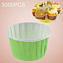 AYSMG 3000 PCS Round Lamination Cake Cup Muffin Cases Chocolate Cupcake Liner Baking Cup, Size: 6.8 x 5 x 3.9cm (Green) ALISUONG (Color : Red)