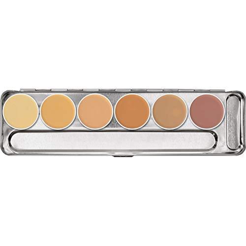 Kryolan - Dermacolor Camouflage Cream Palette - 6 Colors - Model H …